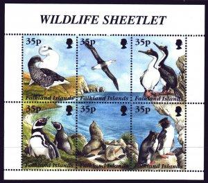 Falkland Islands. 1995. ml653-58. Birds, penguins, fauna. MNH.