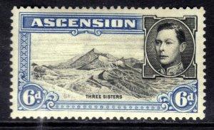 Ascension Island 1938 - 53 KGV1 6d Blue & Black MM SG 43 ( R614 )