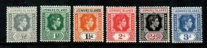 Leeward Islands #120-125  Mint  Scott $7.70
