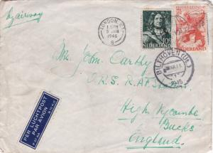 Netherlands 1945 Bilthoven to RAF High Wycombe Cover Redirected lovely CDS VGC