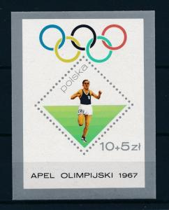 [56227] Poland 1967 Olympic games Champion Athletics MNH Sheet