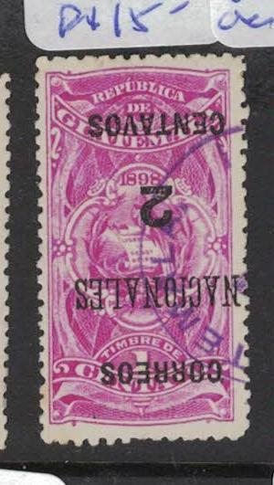 Guatemala SC 93 Inverted Surcharge VFU (4dqn)