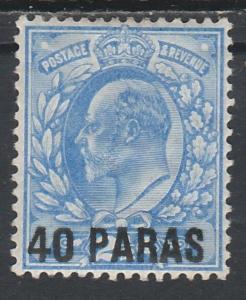 BRITISH LEVANT 1902 KEVII 40PARAS ON 21/2D