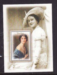 Penrhyn -Sc#459-unused NH sheet-Queen Mother-100th Birthday-2000-