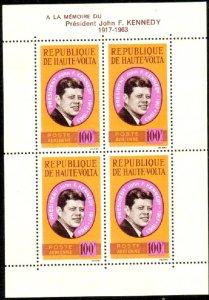 President John F. Kennedy, Burkina Faso S/S of 4 SC#C19a MNH