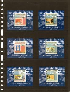 Guinea 2009 Chess on Stamps 6 SS MNH VF # 7086-7091