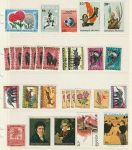 Ethnic Gorilla Monkeys Flowers Musicians Composers Rwanda MNH** Stamps 13974