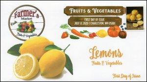 20-164, 2020, SC 5487, Fruits & Vegetables, FDC, Digital Color Postmark