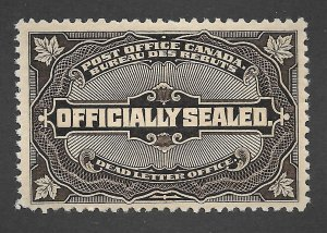 Doyle's_Stamps: XF MH 1913 Scott #OX4* Canadian Official Postal Seal