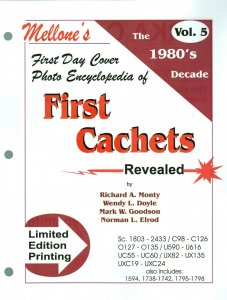 Mellone First Day Cover Photo Encyclopedia First Cachets 1980s Volume 5