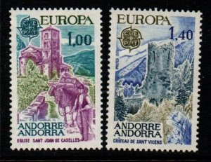 Andorra (Fr) Sc 254-55 1977 Europa stamp set mint NH