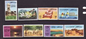 D3-Qatar-Scott#415-22-Unused hinged set-Country Sites-1974-