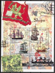 Gambia MNH S/S Voyager Sailing Ships