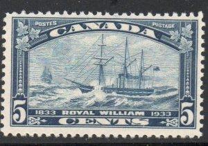 Canada Sc 202 1933 5c Royal William stamp mint
