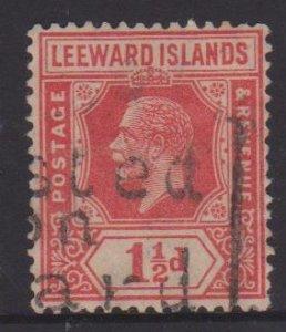 Leeward Islands Sc#63 Used Postmark Interest