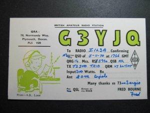 10075 Amateur Radio QSL Card PLYMOUTH DEVON ENGLAND UK