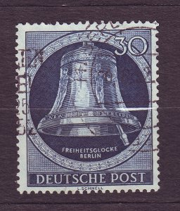J23189 JLstamps 1951-2 berlin germany hv of set used #9n78 bell clapper right