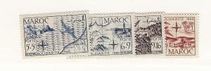 French Morocco, CB36-39, Various Designs Singles, MNH