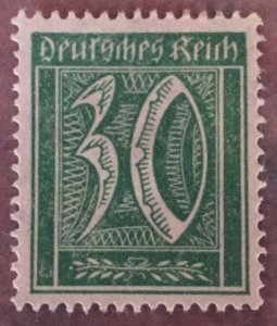 German Empire,30 Pfg numeral with watermark 2 concentric ,OG