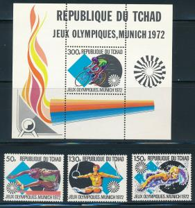 Chad - Munich Olympic Games MNH Set #260-62 (1972)