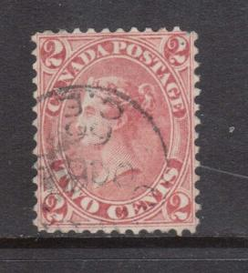 Canada #20 VF Used With Quebec 1866 CDS Cancel