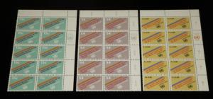 U.N. 1981, PALESTINIAN RIGHTS INSC.BLKS/10, MNH, ALL 3 OFFICES, NICE!! LQQK!!!