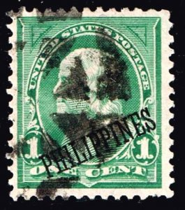 United States>Possessions Philippines Stamp 1C OVPT USED STAMP