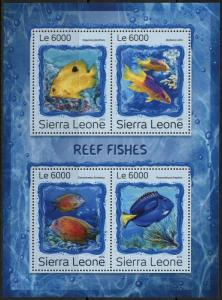 SIERRA LEONE 2016 REEF FISH  SHEET MINT NH