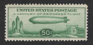 United States MINT Scott Number C18 BABY ZEPPELIN MLH  VF -  BARNEYS