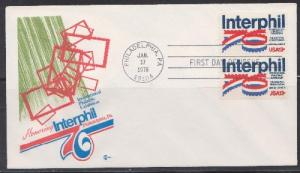 1632 Interphil Unaddressed Cover Craft FDC