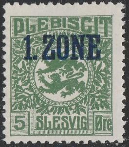 ALLEMAGNE / DEUTSCHE ABSTIMMUNGSGEBIETE - Schleswig 1920 Mi.16a Mint**