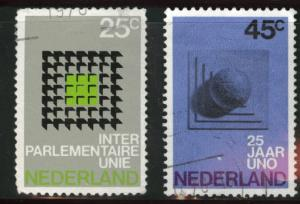 Netherlands Scott 485-486 used 1970 set