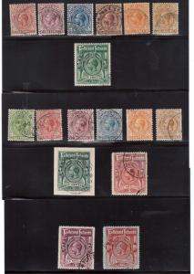 Falkland Islands #30 - #39 #42 - #48 (SG #60 / #68 #74 / #80) VF Used
