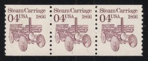 #2451 Claret - Coil Strip of 3 - Plate#1 - O.G. - N.H.