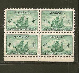 Canada 282 Newfoundland Block of 4 MNH