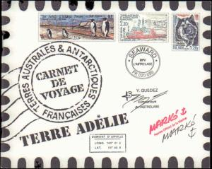 French Southern & Antarctic Territory #294, Souvenir Booklet, Never Hinged