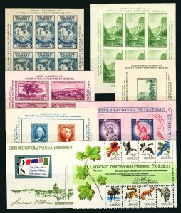 #735 / #1757 1934-1978 Assorted Souvenir Sheets Mint Never Hinged