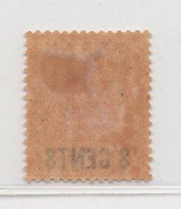 Malaya Perak - 1895 - SG65 - 3c on 5c -  MH #587