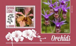 SIERRA LEONE - 2019 - Orchids - Perf Souv Sheet - MNH