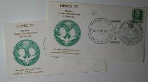 NEBPEX Honor Italian Americans CT 1977 Philatelic Expo U349 columbian design