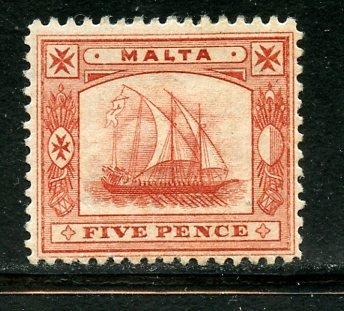 Malta # 16, Mint Hinge Remain. CV $ 50.00  (A21)