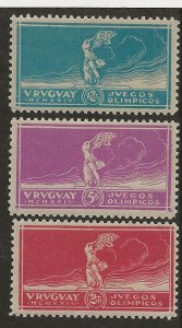 Uruguay 282-284 Set MH