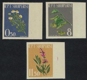 Albania Medicinal Plants 3v IMPERF 1962 MNH SG#700-702 MI#654B-656B