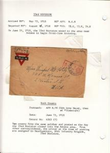 1918, AEF in BEF: APO R. 16, 66th Inf., 33th Div.,See Remark (M4297)