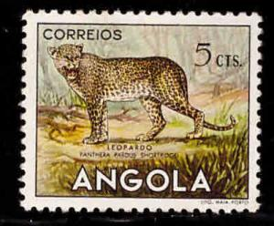 Angola  Scott 362 MNH** Leopard cat stamp from 1953 animal set