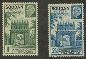 French Sudan 118-119 Mint VF H