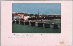 57734 -  SWITZERLAND -  Vintage Postcard - Basel-Stadt: GRUSS aus  BASEL