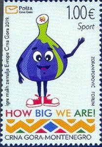 MONTENEGRO/2019, The Games of the Small States of Europe (Mascott, Sport), MNH