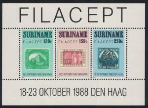 Suriname 'Filacept' International Stamp Exhibition The Hague MS SG#MS1388