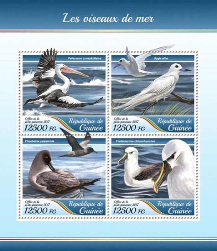 Guinea - 2017 Sea Birds - 4 Stamp Sheet - GU17416a